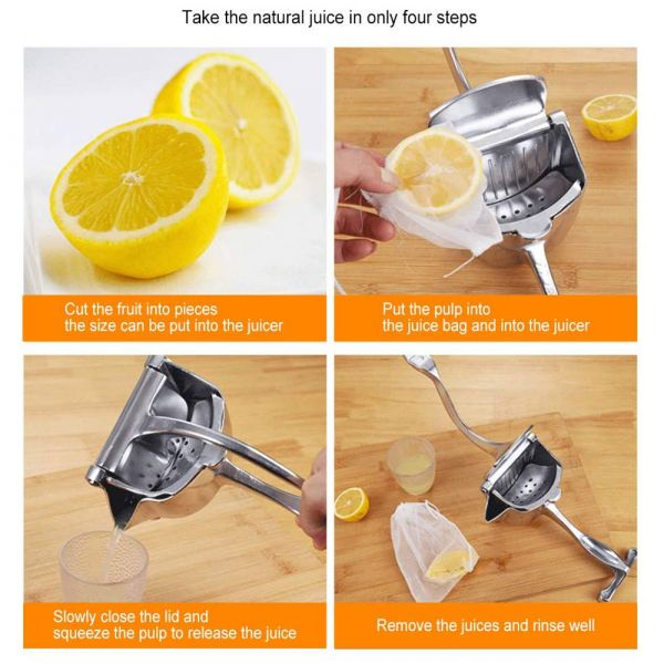 Stainless Steel Hand Press Fruit Juicer