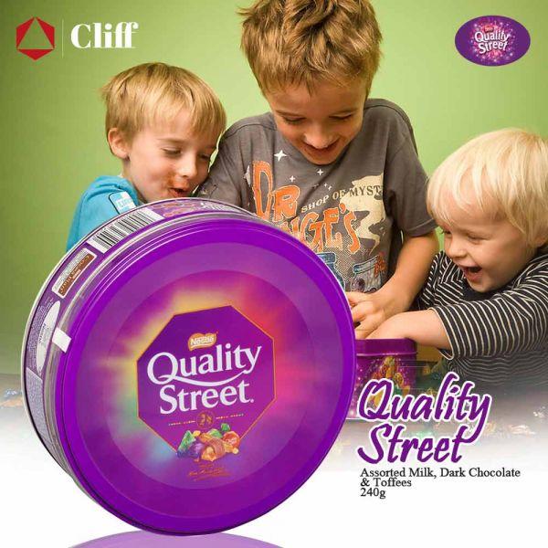 Nestle Quality Street Assorted Milk, Dark Chocolate & Toffees 240g